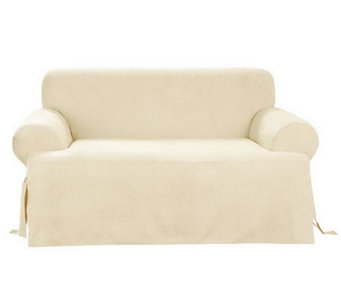 Sure Fit Soft Suede T-Cushion Sofa Slipcover - H142456