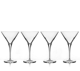 Luigi Bormioli Set of 4 10-oz Martini Glasses - H172556