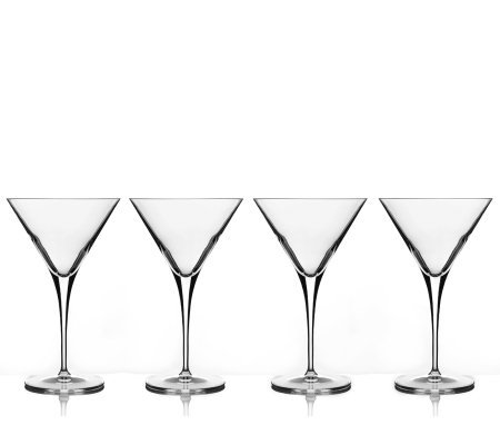 Luigi Bormioli Set of 4 10-oz Martini Glasses