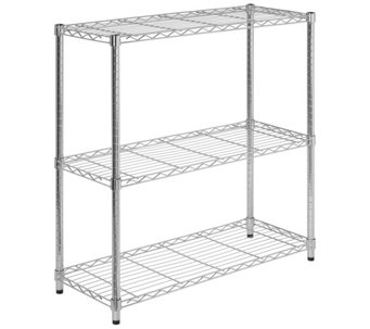 Honey-Can-Do 3-Tier Chrome Storage Shelves - H184056