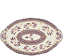 "Temp-tations 18"" Old World Platter with Figural Handles - H205056"