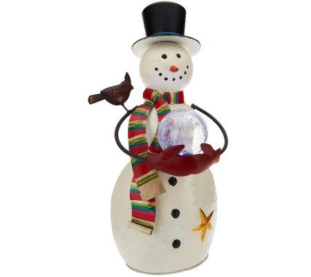 Plow hearth indooroutdoor 24 snowman w illuminated sphere plow hearth indooroutdoor 24 snowman w illuminated sphere mozeypictures Image collections