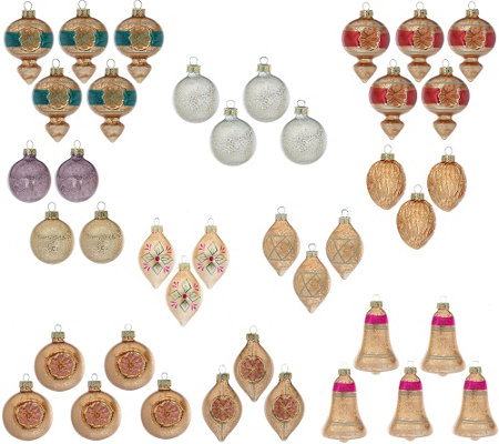 ED On Air 40 Piece Vintage Ornament Set by Ellen DeGeneres