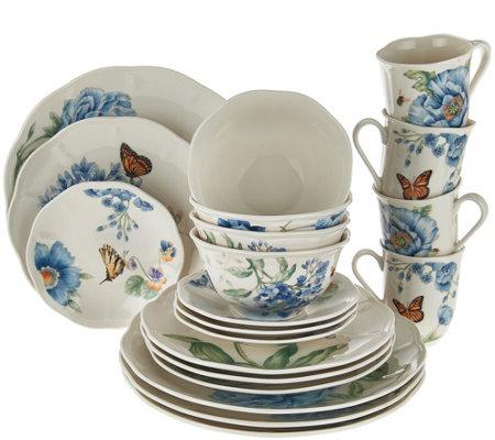 lenox butterfly meadow 20pc porcelain dinnerware set - Lenox Dinnerware
