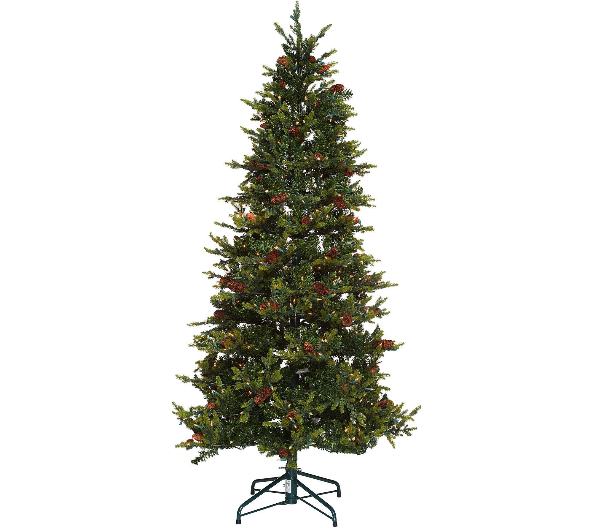 Bethlehem Lights 7.5' Heritage Spruce Christmas Tree w/Instant ...
