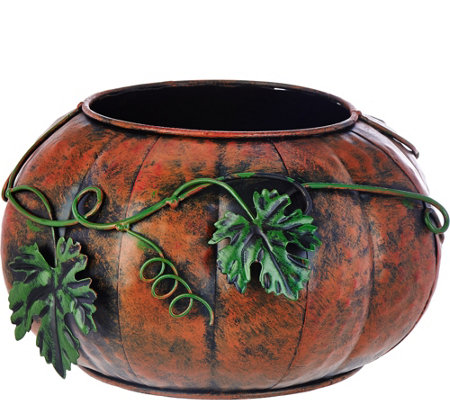 Plow and Hearth Indoor/Outdoor Pumpkin or Turkey Planter