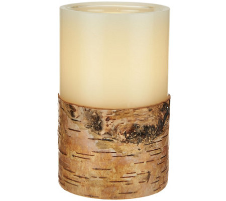 "ED On Air 5"" Dual Flame Wax Pillar Candle by Ellen DeGeneres"