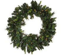 "Bethlehem Lights Prelit 24"" Green Wreath - H212556"