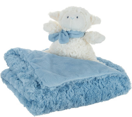 Dennis Basso Plush Baby Blanket with Matching Lamb