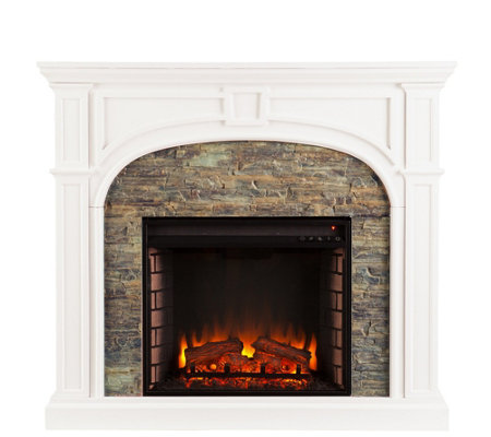 Stacked Stone Fireplace trefny stacked stone fireplace — qvc