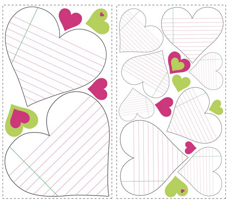 RoomMates Hearts Dry Erase Peel & Stick Wall Decals