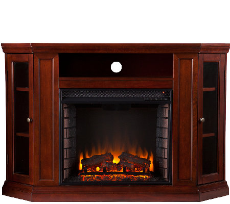 Adrian Convertible Media Electric Fireplace - Cherry Finish