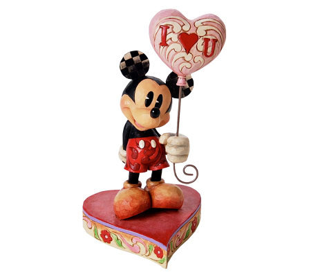 Jim Shore Disney Traditions Mickey with Heart Balloon Figurin