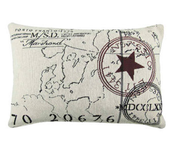 Vintage House World 12 x 18 Tapestry Pillow - H356756