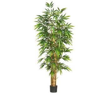 6' Buddah's Belly Bamboo Tree by Nearly Natural - H357356