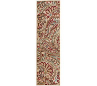 "Nourison Reflections 2'3"" x 8' Paisley MachineMade Rug - H366856"