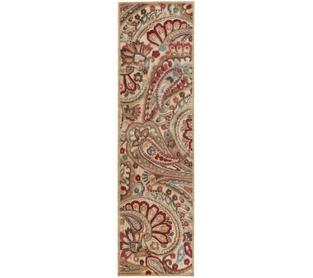 "Nourison Reflections 2'3"" x 8' Paisley MachineMade Rug"