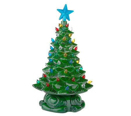 Thomas Pacconi Porcelain Light Up Christmas Tree Figurine - Page 1 ...