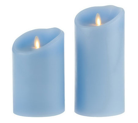 "Luminara Set of 2 5"" and 7"" Flameless Candlesw/Timers"