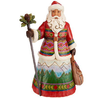 "Jim Shore Heartwood Creek ""Mountaintop Messenger"" Santa Figurine"
