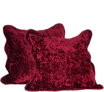 "Dennis Basso Set of 2 16""x16"" Lyon Velvet Pillows - H206457"