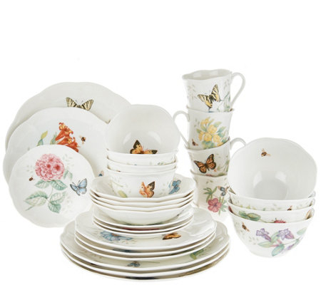Lenox Butterfly Meadow 28-piece Porcelain Dinnerware Set