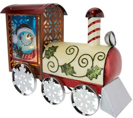 Kringle Express Illuminated Indoor/Outdoor Holiday Metal Train