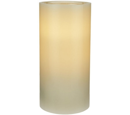 "ED On Air 7"" Dual Flame Wax Pillar Candle by Ellen DeGeneres"