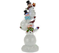 Kringle Express Illuminated Holiday Snowmen Trio with Light Strand - H209757