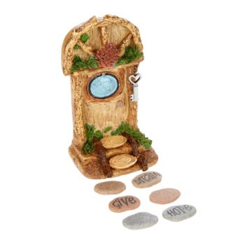 Hallmark Indoor/Outdoor Fairy Garden Door with Stepping Stones