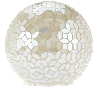 """As Is"" Mosaic Pearl Sphere w/ Multi-Function Light by Valerie - H210257"