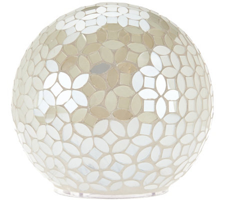 """As Is"" Mosaic Pearl Sphere w/ Multi-Function Light by Valerie"