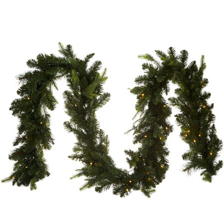 Bethlehem Lights Prelit 9' Green Garland