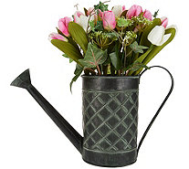 """As Is"" Tulip Arrangement in Watering Can by Valerie - H212957"