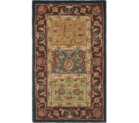 "Royal Palace Special Edition 30""x50"" Accent Tabriz Panel Wool Rug"