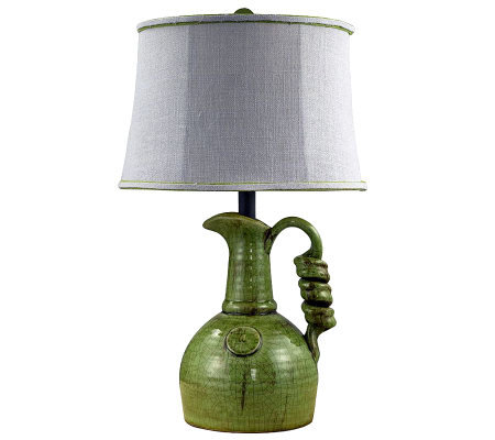 "23"" Green Jug Lamp by Valerie"