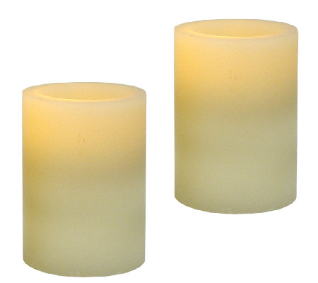 Pacific Accents Set of 2 3x4 Flat Top Wax Candles