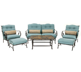Hanover Oceana 6-Piece Outdoor Seating Set andCoffee Table - H283957