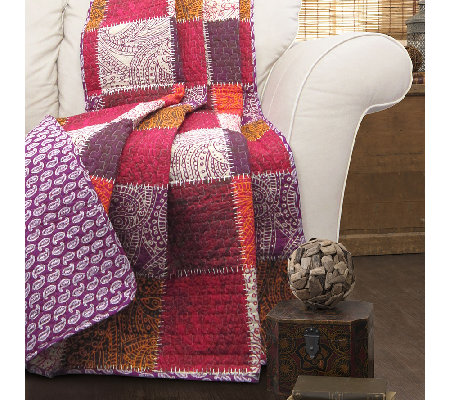 Paisley Patchwork Throw by Lush Decor