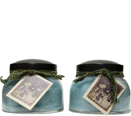 A Cheerful Giver Set of Two 22-oz Mama Jar Candles