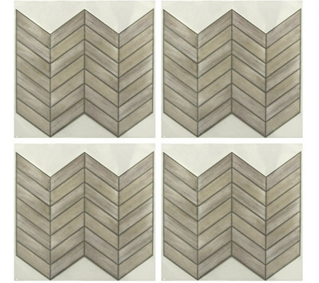 RoomMates Chevron Distressed StickTILES - 4 Pack