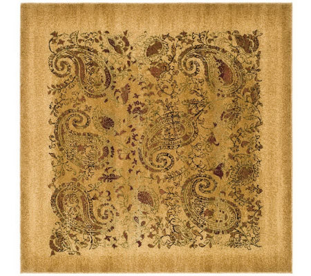 Lyndhurst 6' x 6' Paisley Life Power Loomed Square Rug