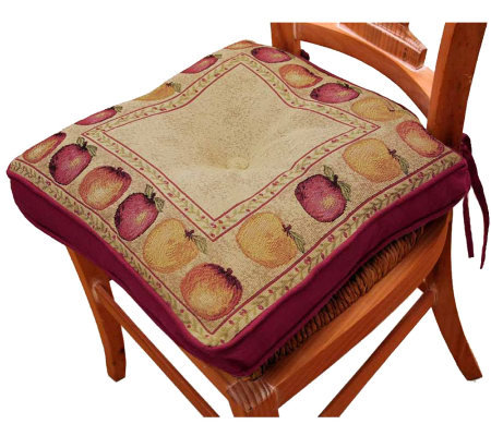 Apple Variety 16x16 Tapestry Chair Pad