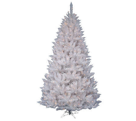 5.5' White Sparkle Spruce Tree with LED