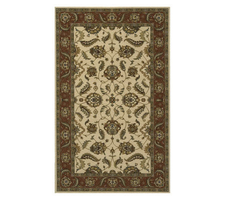 "Momeni Persian Floral 9'6"" x 13' Power-Loomed Wool Rug"