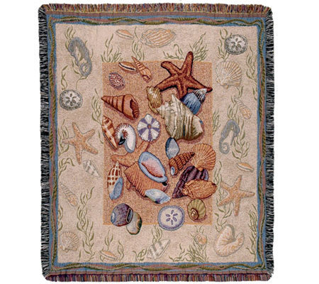 Seashell Collection Throw by Simply Home