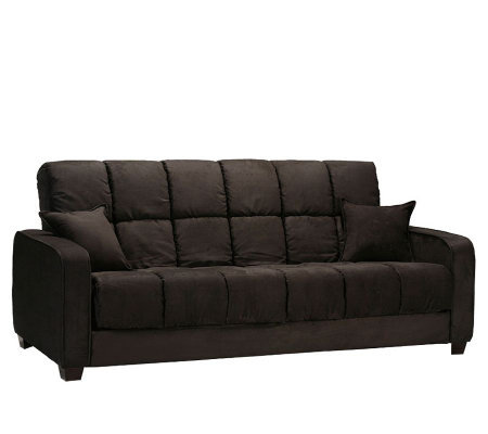 Handy Living Cabo Black Microfiber 3 Position Futon Sofa