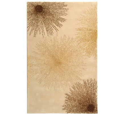"Soho 8'3"" x 11' Abstract Handtufted Wool/Viscose Blend Rug"