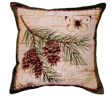 Pinecone Branch Pillow by Simply Home