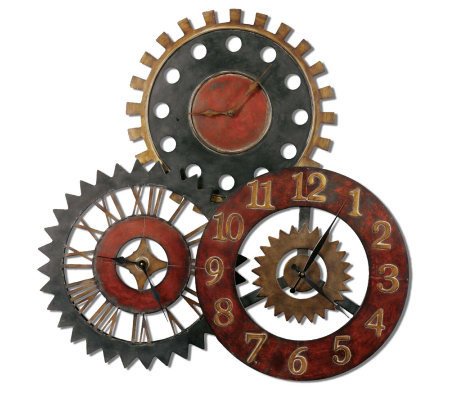 Rusty Movements Clock by Uttermost